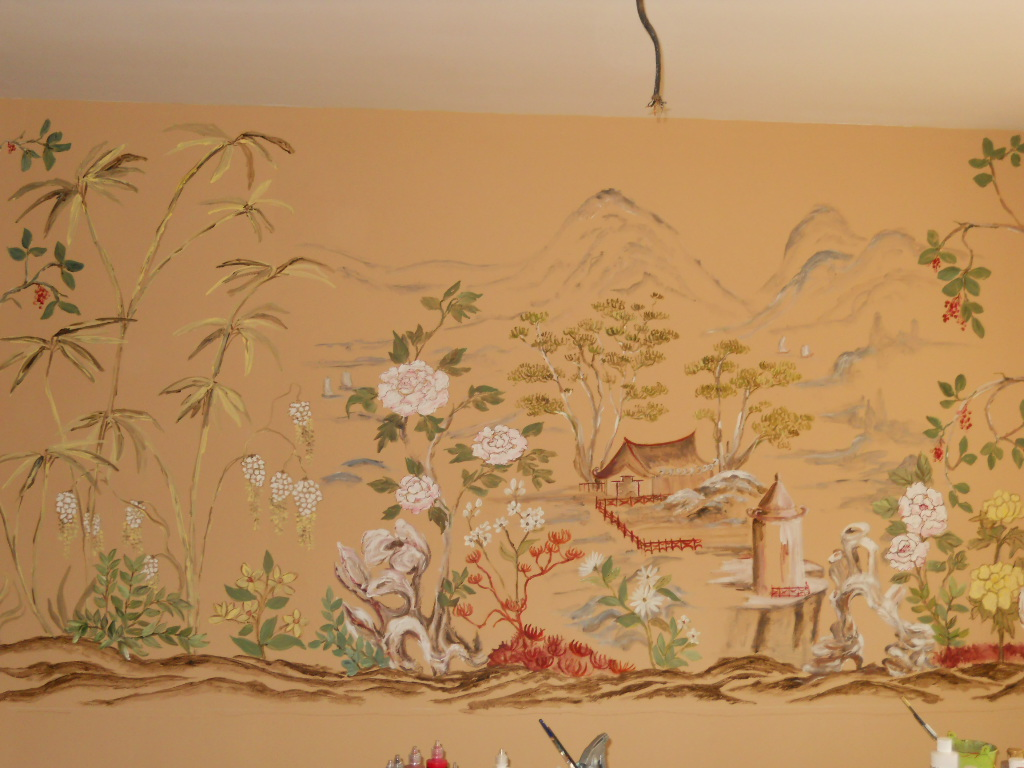 Top oriental wallpaper murals wallpapers for Asian mural wallpaper