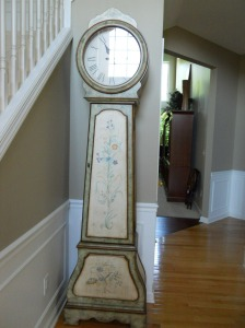 clock before painting
